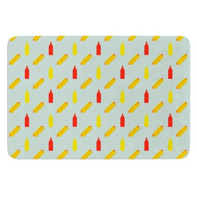 Hot Dog II by Will Wild Bath Mat