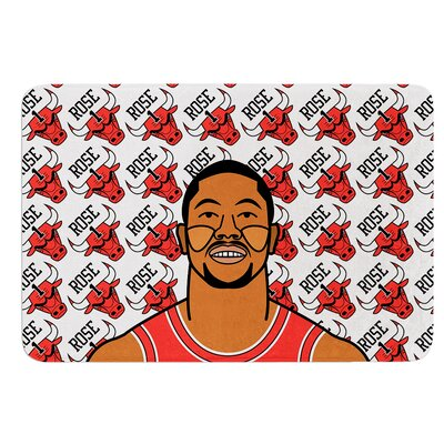Derrick Rose by Will Wild Bath Mat