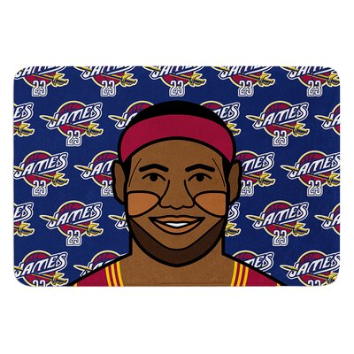 Lebron James by Will Wild Bath Mat