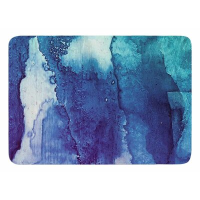 Blues Abstract Series 1 by Malia Shields Bath Mat