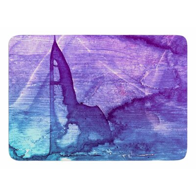 Blues Abstract Series 2 by Malia Shields Bath Mat