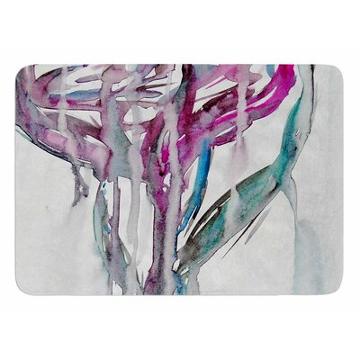Lovely Watercolor Flower by Malia Shields Bath Mat