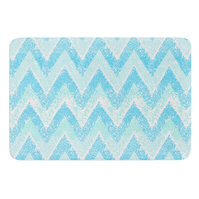 Mint Snow Chevron by Marianna Tankelevich Bath Mat
