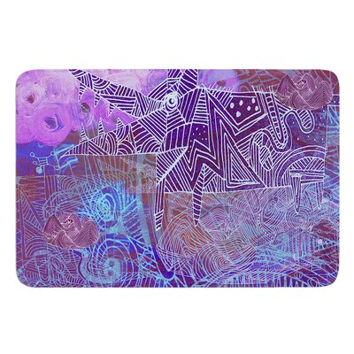 Abstract With Wolf by Marianna Tankelevich Bath Mat