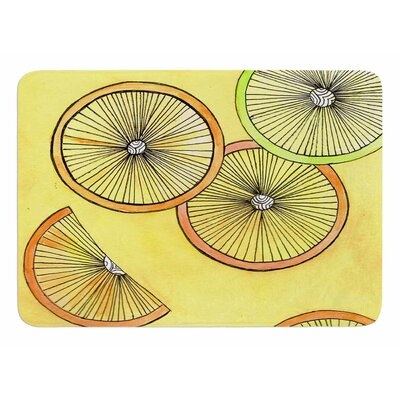 Lemons And Limes by Rosie Brown Bath Mat