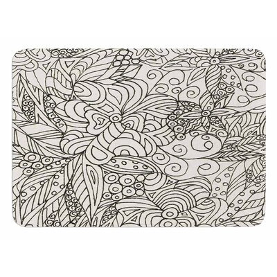Zentangle Garden by Rosie Brown Bath Mat