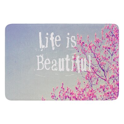 Life is Beautiful by Rachel Burbee Bath Mat