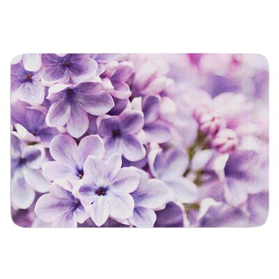 Lilac by Sylvia Cook Bath Mat