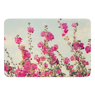 Lavatera by Sylvia Cook Bath Mat