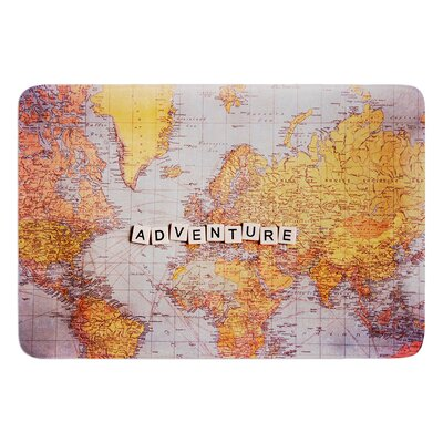 Adventure Map by Sylvia Cook Bath Mat