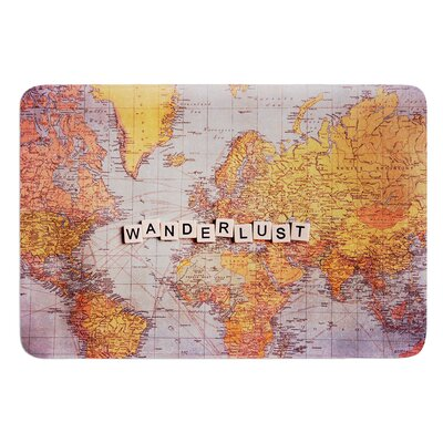 Travel Map by Sylvia Cook Bath Mat