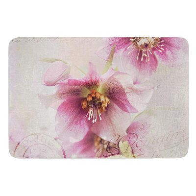 Hellabore by Sylvia Cook Bath Mat
