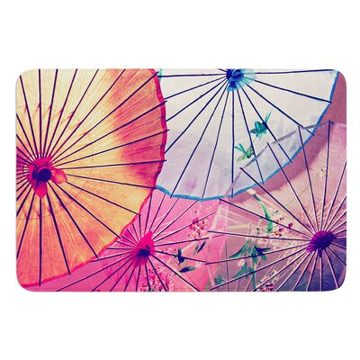 Colorful Umbrellas by Sylvia Cook Bath Mat