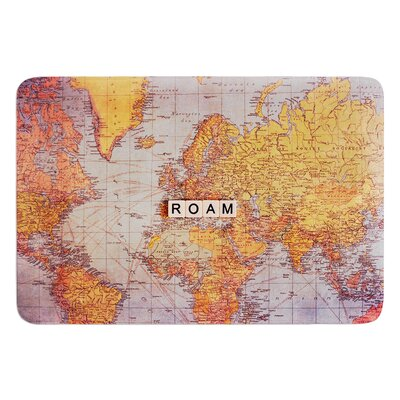 Roam Map by Sylvia Cook Bath Mat