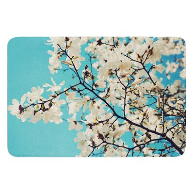 Magnolias by Sylvia Cook Bath Mat