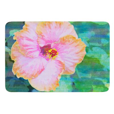 Hibiscus by Sylvia Cook Bath Mat