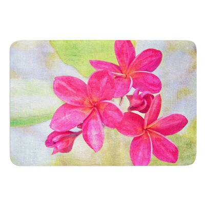 Plumeria by Sylvia Cook Bath Mat