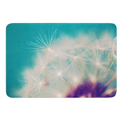 Dandelion Seedhead by Sylvia Cook Bath Mat