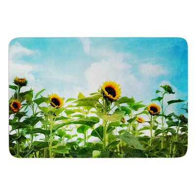 Sunflower Field by Sylvia Cook Bath Mat