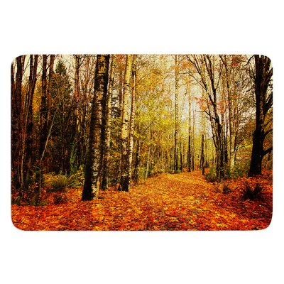 Autumn Leaves by Sylvia Cook Bath Mat