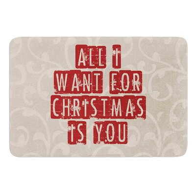 All I Want For Christmas by Sylvia Cook Bath Mat