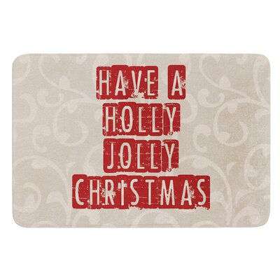 Have A Holly Jolly Christmas by Sylvia Cook Bath Mat