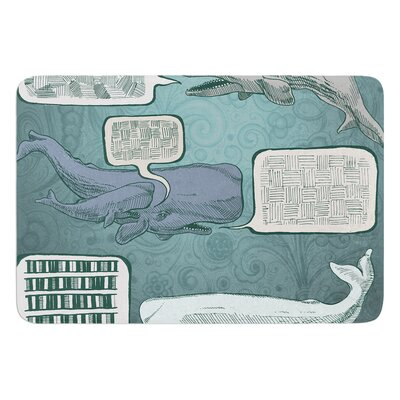 Whale Talk by Sophy Tuttle Bath Mat