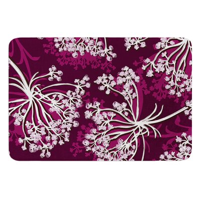 Squiggly Floral by Suzie Tremel Bath Mat