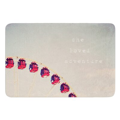 She Loved Adventure by Susannah Tucker Bath Mat