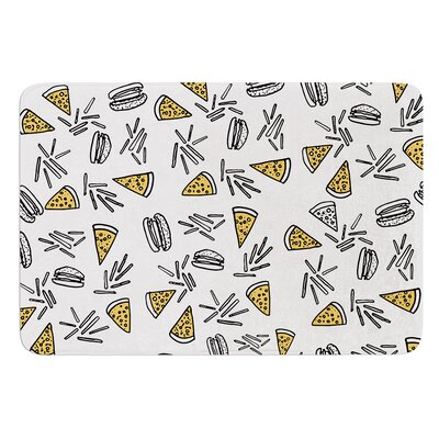 Burgers and Pizza by Vasare Nar Bath Mat