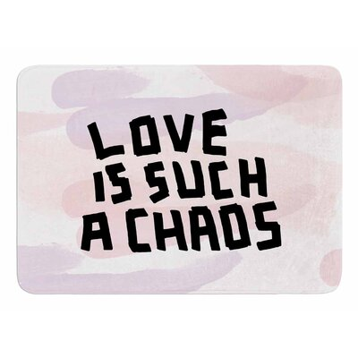 Love Is Such A Chaos by Vasare Nar Bath Mat