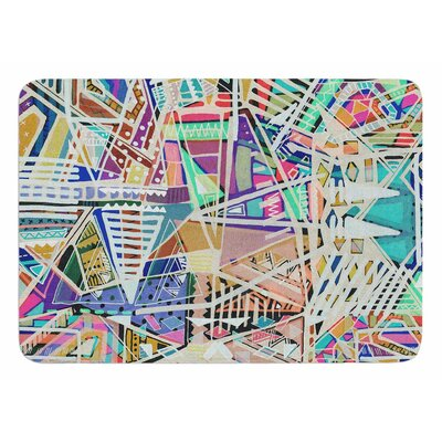 Abstract Geometric Playground by Vasare Nar Bath Mat