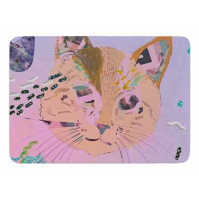 Psychedelic Cat by Vasare Nar Bath Mat
