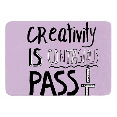 Creativity Is Contagious by Vasare Nar Bath Mat
