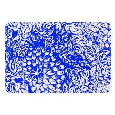 Bloom Blue for You by Vikki Salmela Bath Mat