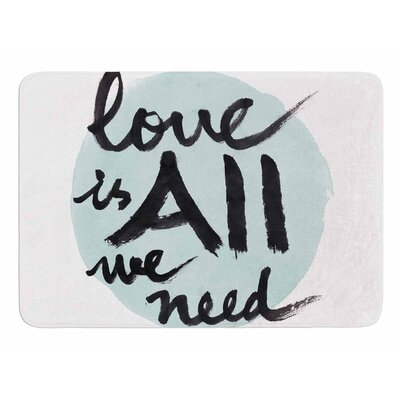 Love Is All We Need by Qing Ji Bath Mat