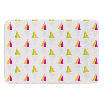 Triangles by Apple Kaur Designs Bath Mat