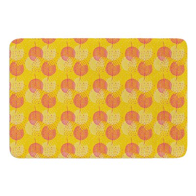 Wild Summer Dandelions by Apple Kaur Designs Bath Mat