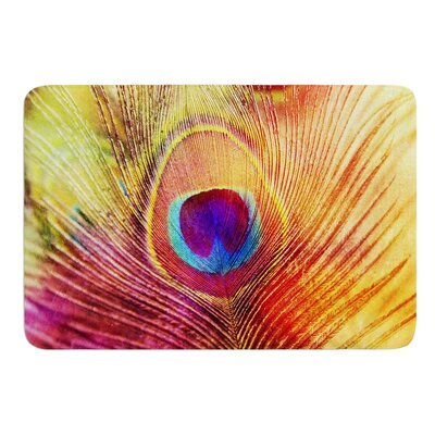 Peacock Feather by Sylvia Cook Bath Mat