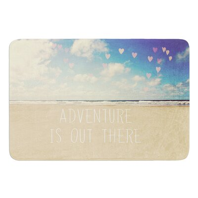 Adventure is Out There by Sylvia Cook Bath Mat