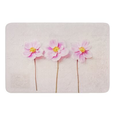 Anemone Trio by Sylvia Cook Bath Mat