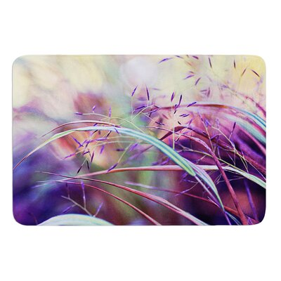 Pretty Grasses by Sylvia Cook Bath Mat