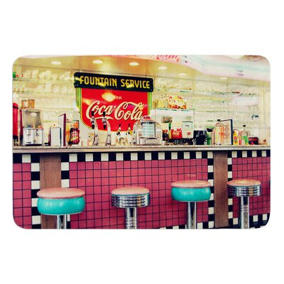 Retro Diner by Sylvia Cook Bath Mat