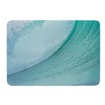 Ocean Blue Wave by Susan Sanders Bath Mat