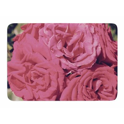 Blush Blooming Roses by Susan Sanders Bath Mat