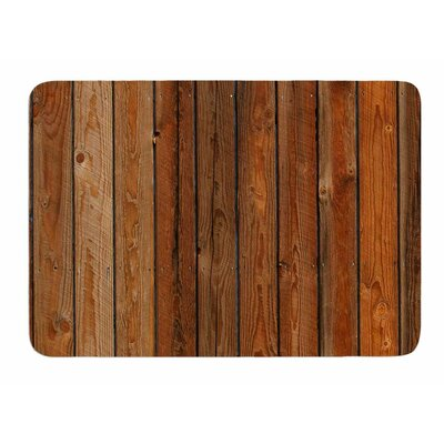 Rustic Wood Wall by Susan Sanders Bath Mat