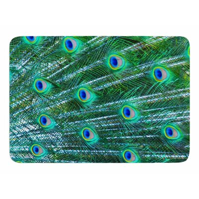 Peacock Feathers by Susan Sanders Bath Mat