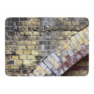 Painted Grunge Brick Wall by Susan Sanders Bath Mat