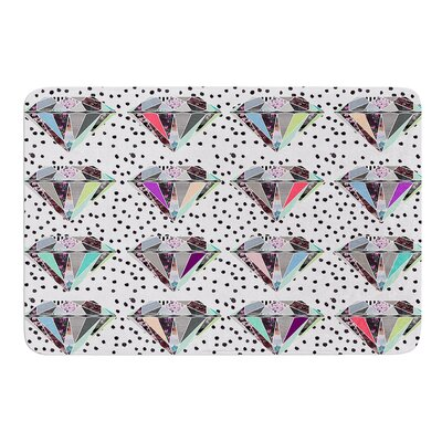 Polka Dot Diamonds by Vasare Nar Bath Mat
