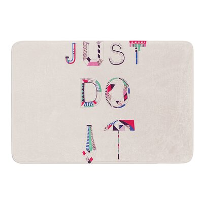 Just Do It by Vasare Nar Bath Mat